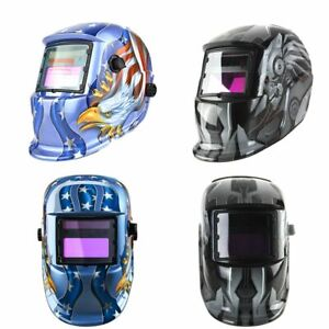 Welder Lens Protection Robot Auto Darkening Blue Eagle Solar Welding Helmet