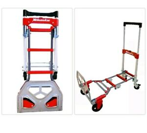 Milwaukee Hand Truck Convertible Fold Up Nose Plate 2 in 1 Non Marking Wheels