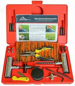 Boulder Tools 56 Pc Heavy Duty Tire Repair Kit For Car Truck Rv Jeep Atv
