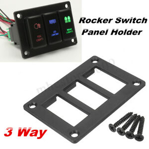 3 Gang Push Button Switch Panel Holder For Toyota Landcruiser Prado Fj Cruiser