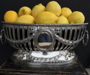 Antique English Sterling Silver Centerpiece Bowl Dish