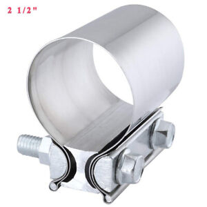 2 5 Stainless Butt Joint Exhaust Band Step Clamp For Catback Muffler Downpipe