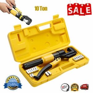 10ton Hydraulic Crimper Plier Crimping Tool For Battery Welding Cable Power Wire