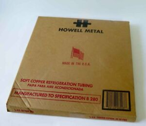 Howell Metal 1 4 O d 50 Foot Coil Soft Copper Refrigeration Tubing With Box