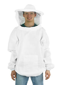 Vivo Large Beekeeping Bee Keeping Suit Jacket Pull Over Smock With Veil M l