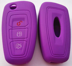 Purple Ford Car Flip Key Remote Cover Case New Ranger 2012 2013 Focus