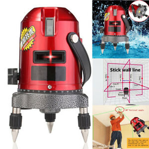 Shockproof Red Laser Level Measure Automatic Self Leveling 5 Line 6 Point 4v1h