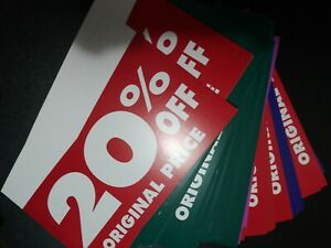 240 Pre Owned Pro Cardstock Store Display Sign Assorted Off Original Price