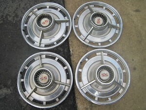 Vintage Chevy Chevrolet 1960 S Ss Super Sport Hub Caps Set Of 4