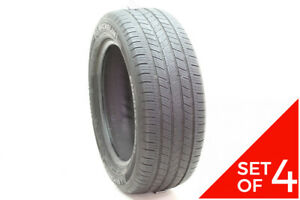 Set Of 4 Used 235 55r17 Michelin Energy Saver As 99h 5 5 7 32