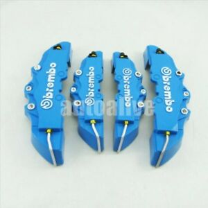 4pcs Universal 3d Blue Style Car Front And Rear Disc Brake Caliper Covers