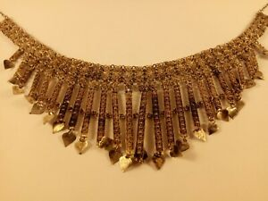 Antique Ottoman Turkish Necklace Silver Gilt Fine Filigree