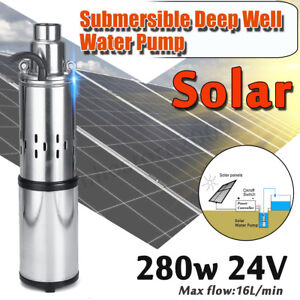 250w 24v 32m h Electric Solar Water Pump Submersible Bore Hole Deep Well Pump