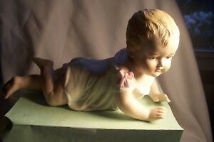 Vintage German Bisque Porcelain 9 1 2 Piano Baby Girl L C285