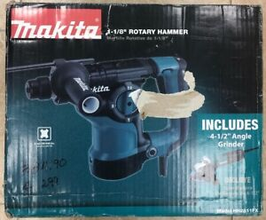 Makita Hr2811fx 1 1 8 Rotary Hammer Drill With 4 1 2 Angle Grinder New