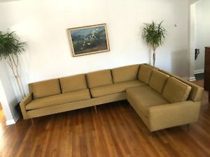 Vintage Milo Baughman For Thayer Coggin Sectional Sofa Mid Century Modern Couch