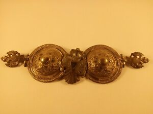 Antique Silver Niello Greece Ottoman Belt Buckle 19th C