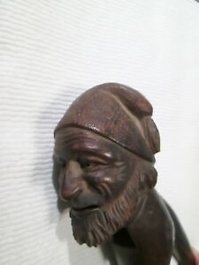 Vintage Bavarian Hand Carved Wooden Nutcracker