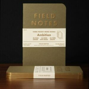 New Field Notes Ambition Edition From Winter 2014 3 Pack Memo Notebooks Sealed