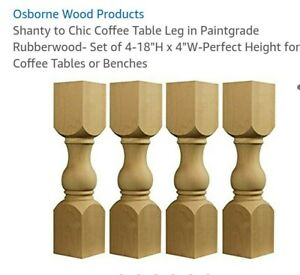 18 Unfinished New Wooden Table Legs Shabby Chic This Is A Set Of 4 Legs