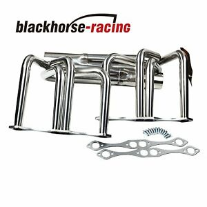 For Small Block Chevy Sbc V8 Classic T Bucket Roadster Headers Sliver
