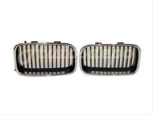 Bundle For 92 96 Bmw 3 Series 318 320 325 M3 Grille Chrome W blk Inserts Lh