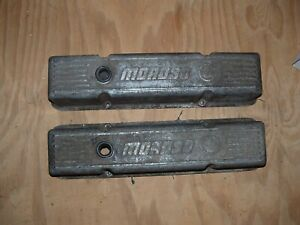 Chevrolet Chevy 283 327 350 383 400 Mososo Cast Valve Covers Rat Rod Vintage