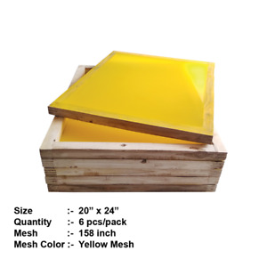 6pcs Wooden Silk Screen Frame Screen Printing With High Quality 158 Mesh 20x24