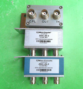 1pc Used Good Mini circuits Zdc 20 3 0 2 250mhz 20db Bnc Coupler