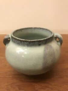 Antique Chinese Porcelain Jun Yao Jar With Purple Splashes Among Lavender Glaze