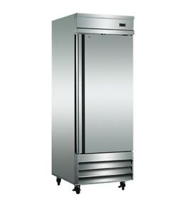 New Efi Classic chill Single Door Stainless Steel Cooler 29 Wide 23 Cu ft