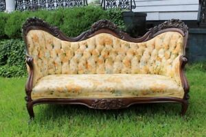 Authentic John Henry Belter Rosewood Laminated Sofa Settee Rosalie W Grapes