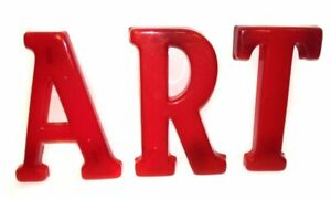 Vintage Art Three Piece Plastic 12 Advertising Sign Text 3 D Letters