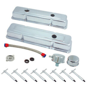 Classic Chevy Engine Dress Up Kit Small Block 265 400 Short Valve Covers