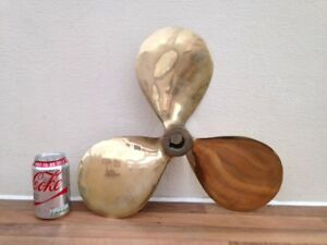 Large Brass Boat Propeller Not Light Ship Yacht Marine Nautical Yacht