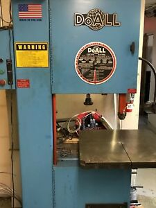 Doall 2013 v Vertical Band Saw Vari speed 3 Ph 230v 154 Saw Band Length