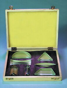 Frey Scientific Prism And Lens Set Glass Set Of 7