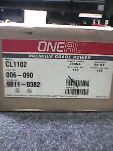 Oneac Cl1102 2a 120volt Ac Line Stabilizer filter Isolation Transformer New