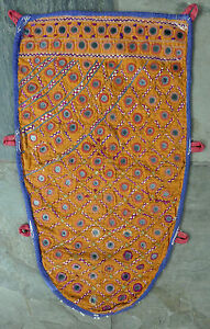 Antique Indian Kutch Silk Embroidery Camel Animal Trapping Textile Hanging 1
