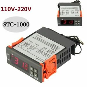 Universal Stc 1000 Digital Temperature Controller Thermostat With Sensor Ac 110v