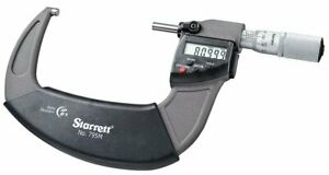 Starrett 795mexfl 100 69080 Carbide Electronic Micrometer With Output 3 4