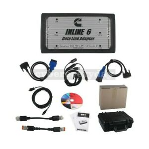 Inline 6 Data Link Adapter Heavy Duty Diagnostic Tool Scanner Can Odbii