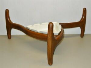 Danish Modern Adrian Pearsall Coffee Table Base With Haeger Tonk Insert