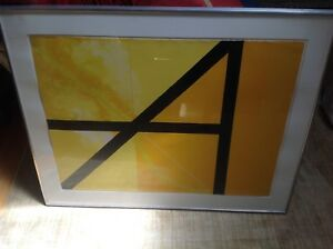Gio Pomodoro Modernist Signed Lithograph 67 Square Against The Light
