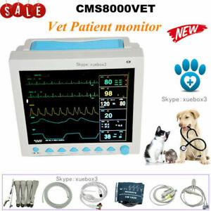 Veterinary Pet Patient Monitor Multiparameter Icu Machine Big Screen cms8000 New