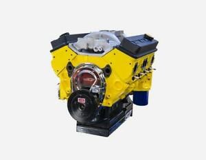 383 Small Block Chevy Stroker Marine Air Boat Crate Engine Aluminum Heads 420hp