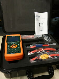 Extech Pq3470 3 phase Graphical Power Harmonics Analyzer Datalogger W Probes