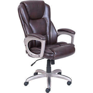 Serta Big And Tall Commercial Office Chair With Memory Foam Brown