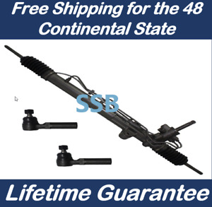 Power Steering Rack And Pinion For Mustang 2005 2010 Outer Tie Rod Ends