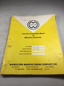Midwestern Sideboom For John Deere Jd450 c Dozer Parts Instruction Manual